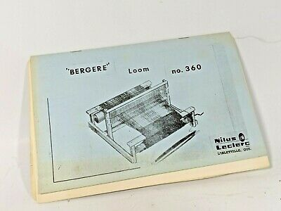 LECLERC BERGERE 360 Weaving Loom Instruction Booklet Instructions