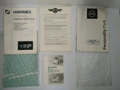 Hantarex Electronic Systems/ JPM Thunderbirds Operations & Service Manual etc
