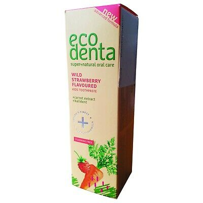 ECODENTA Wild Strawberry KIDS toothpaste FLOURIDE FREE, 75 ml