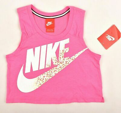 NIKE Girls' Kids' Activewear Cropped Top, Pink, sizes 4 5 6 6x years