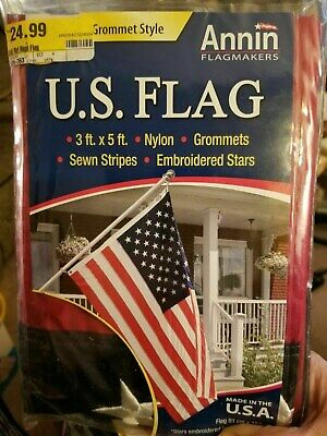 ANNIN 3X5 ft. 100% NYLON US FLAG - NEW  4th of July
