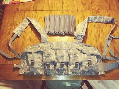 FIGHTING LOAD CARRIER VEST ACU and 6 mags USED, FREE SHIPPING!!