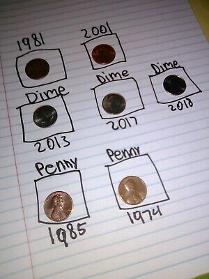 Lincoln small cents from 1974
