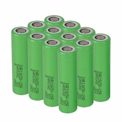 Samsung 18650 25R 2500mAh 3.7V Rechargeable High Drain Battery & Charger