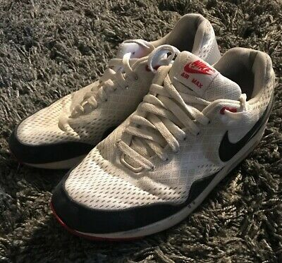 more photos 3ee94 1611e Nike Air Max 1 EM Shoes Men s Size 12 White Obsidian Red 554718-106