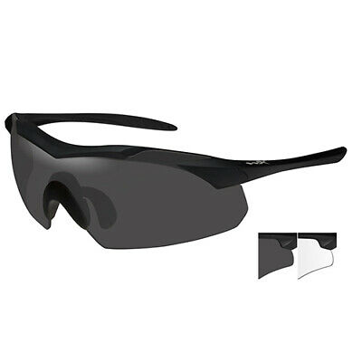 3c150e933798 Wiley X WX Vapor Sunglasses Matte Black Frame and Smoke Gray and Clear Lens  3501