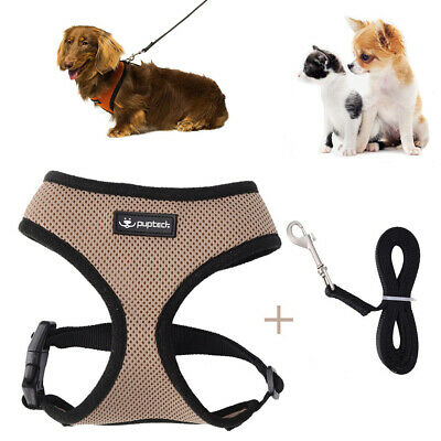 US Mesh Breathable Dog Harness - Pet Puppy Adjustable Vest 2 Sizes
