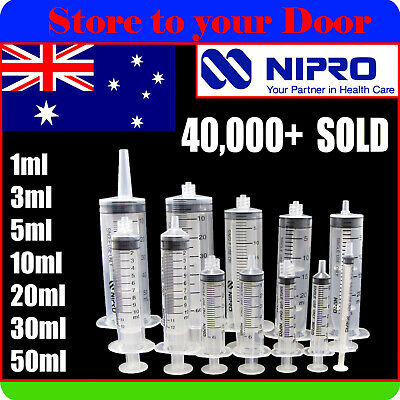 Syringes 1ml 3ml 5ml 10ml 20ml 30ml 50ml Nipro x5 10 25 50 100 Slip Lock Needles