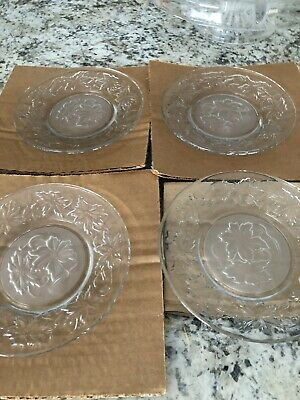 Princess House FANTASIA Bread & Butter Plates and Salad plates SET of 4 each