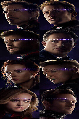 Poster Avengers End Game 2019 Main Characters Endgame Marvel Movie 36 32x48 F-61