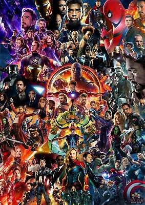 Hot Poster Avengers Endgame Movie Marvel End Game Universe Collage 36 32x48 F-47