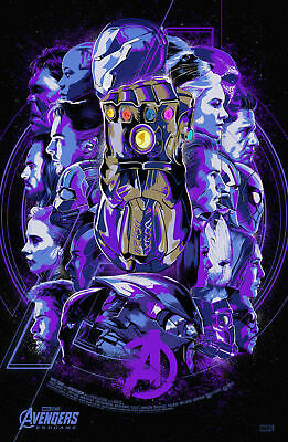 Hot Fabric Poster Avengers Endgame Marvel 2019 End Game Hot Movie 36 32x48 F-34