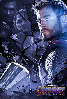 P850 Thor with Stormbreaker and mjolnir Hot Movie Avengers Silk Poster
