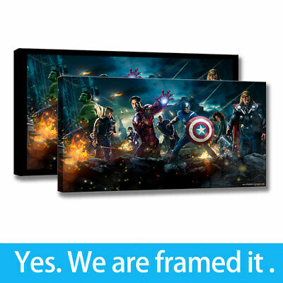 Wall Art Living Room Character Decor Painting Avengers HD Print on Canvas 16x24