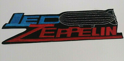 """Vintage Led Zeppelin Blimp Embroidered Iron on Patch. Measures 11"""" by 3"""""""