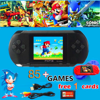 PXP3 Slim Station Game Console Handheld Portable 16Bit Retro Video LCD+Free Card