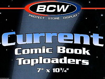 100 BCW NEW Current Modern Comic Hard Top loader Holders - Rigid Toploaders