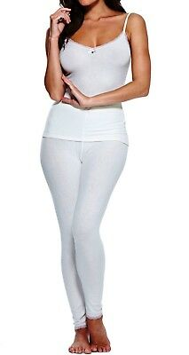 Charnos Cocoon 3 Piece Pajama Set - Ivory/Pink- Size 8/10 - RRP $270