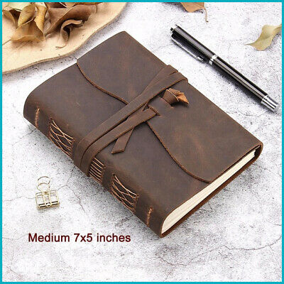 Leather journal travel notebook Handmade Vintage Leather Bound Writing Notebook
