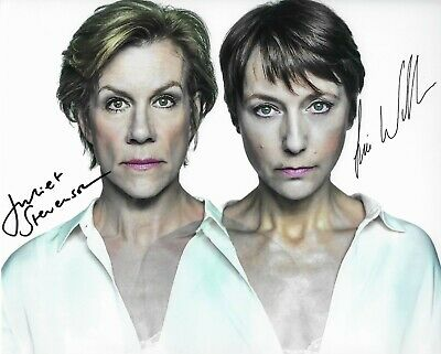 "RARE 10"" x 8"" PIC (COA) ""MARY STUART"" SIGNED BY LIA WILLIAMS & JULIET STEVENSON"