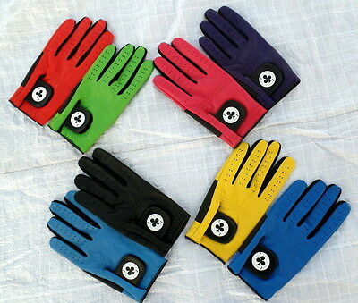 Brand New Coloured Men's Full Leather Top Quality  'Ace' Golf Gloves Lh - Gift!