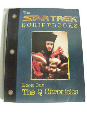 The Star Trek Script books Book One The Q Chronicles Softcover 1999 800 Pages