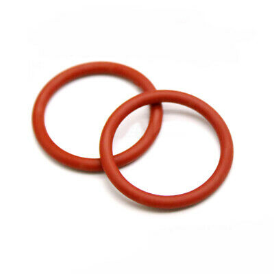 5mm Cross Section Food Grade Silicone Rubber O-Rings Seal Washers ID 8-35mm Red