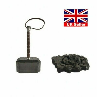 UK 1:1 Avengers Thor The Dark World Hammer Mjolnir Prop Cosplay ABS Toy+Base New