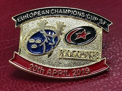Munster Saracens Rugby Match Day European Champions Cup Pin Badge