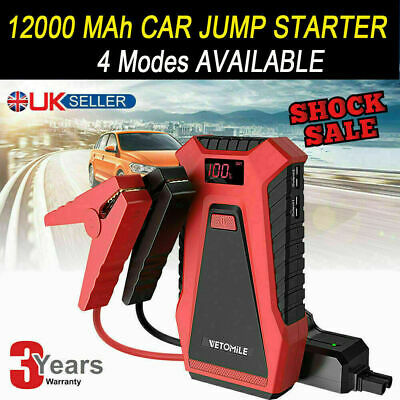VETOMILE 800A Jump Starter 21000mAh Portable Car Power Pack Bank Battery Charger
