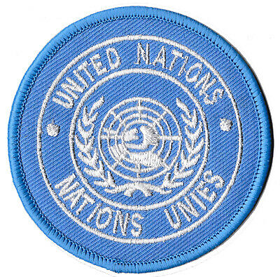 Ecusson patche ONU Nations Unies thermocollant patch militaire airsoft brodé
