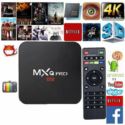 2019 MXQ Pro 4K 3D 64Bit Android 7.1 Quad Core Smart TV Box 1080P HDMI WIFI FR
