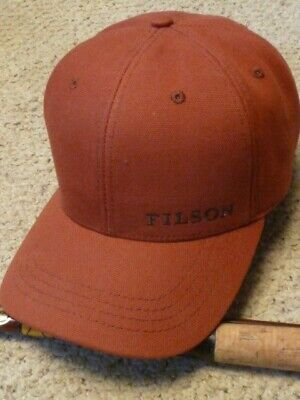 605b75d11 Filson Red Burnt Orange Cotton Logger Cap Hat NWOT Ball Cap Design