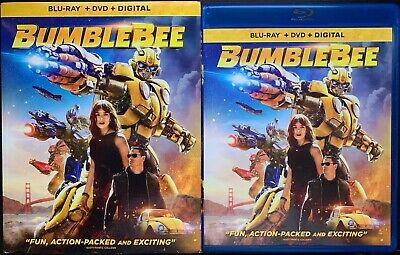 Bumblebee Blu Ray Dvd 2 Disc Set + Slipcover Sleeve Transformers Free Shipping
