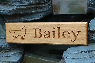 Oak  House Name Sign / Name Plate / Plaque  - Personalised Outline