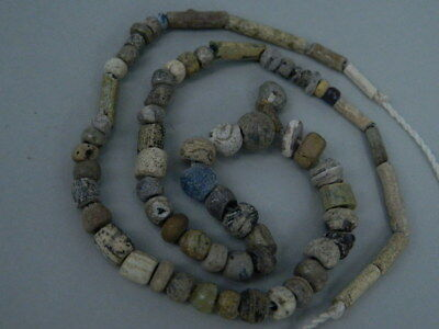 Ancient Glass Etrc. Beads Strand Roman 200 BC #FBE24(F)