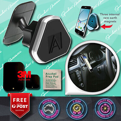 New! Aerpro Magnetic Cell Phone Holder Car Dash / Windscreen 3M Adhesive Mount
