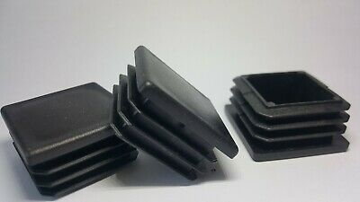40x40mm Square Plastic Black Blanking End Caps Tube Pipe Inserts Plug Bung