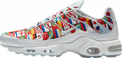 ccaad8c7011bb Nike Air Max Plus NIC size 10.5. White Multi World Cup Flag Pack AO5117-