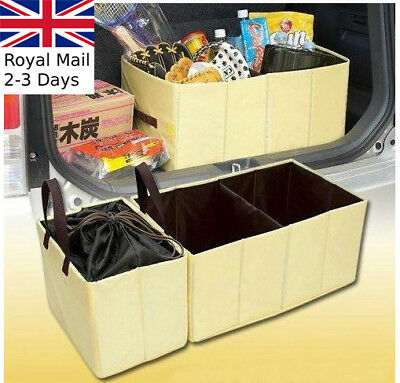 2pcs Large Car Boot Foldable Storage Bag Organiser Travel Box Camping Shopping