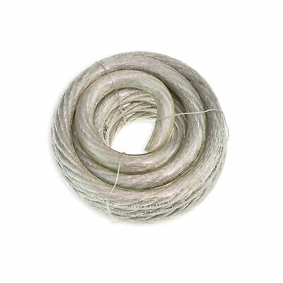 20ft Feet 10 GA Gauge AWG Power Cable Wire Tinned OFC Copper Ground Clear Silver
