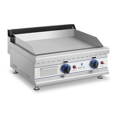 Double Gas Griddle Butane Propane Grease Collecting Drawer 2 Burners - 3 Kw Each