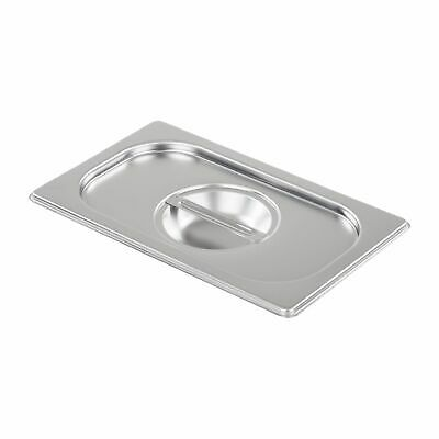 Baine Marie Gastronorm Pan Lid Cover Gn 1/3 Size Stainless Steel  Commercial
