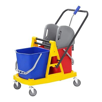 Mop Bucket Wringer Cleaning Trolley Cleaning Mop Holder Hotel Cleaning 40 L