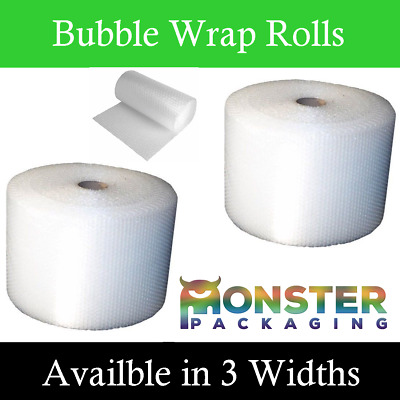SMALL BUBBLE WRAP ROLLS AVAILABLE IN WIDTHS 300mm 500mm 750mm REMOVALS PACKAGING