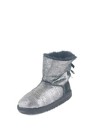 4d46df61aa3 UGG AUSTRALIA GIRLS Youth Black Bailey button Short Boots Size 4 S/N ...