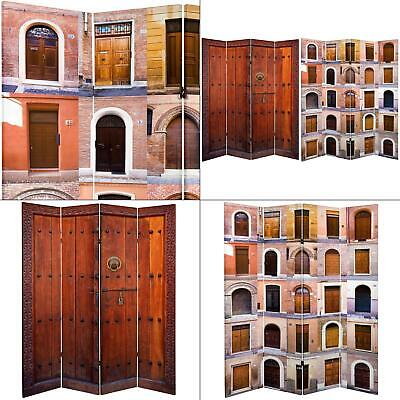 6 ft. printed 4-panel room divider | double sided doors canvas oriental tall [id
