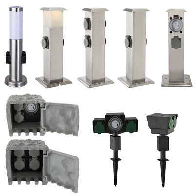 Outdoor Sockets Floor Lamp Timer Power Column Energy Distributor Ground Garden
