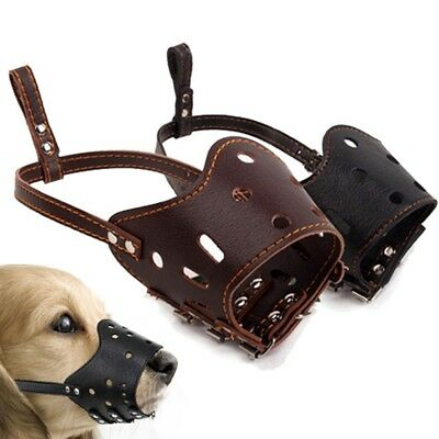 Soft Dog Puppy Leather Muzzles Rottweiler K9 Muzzle for Large Dog Supplies
