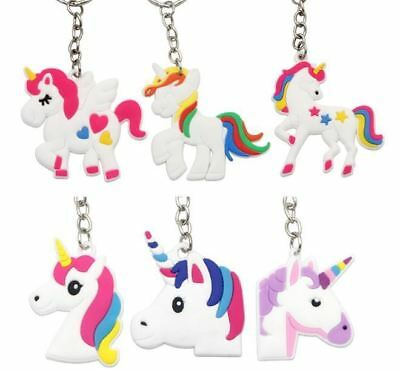 60x Unicorn Keyring Magical Silicone Girl Bag Pendant Keychain T001 a F01